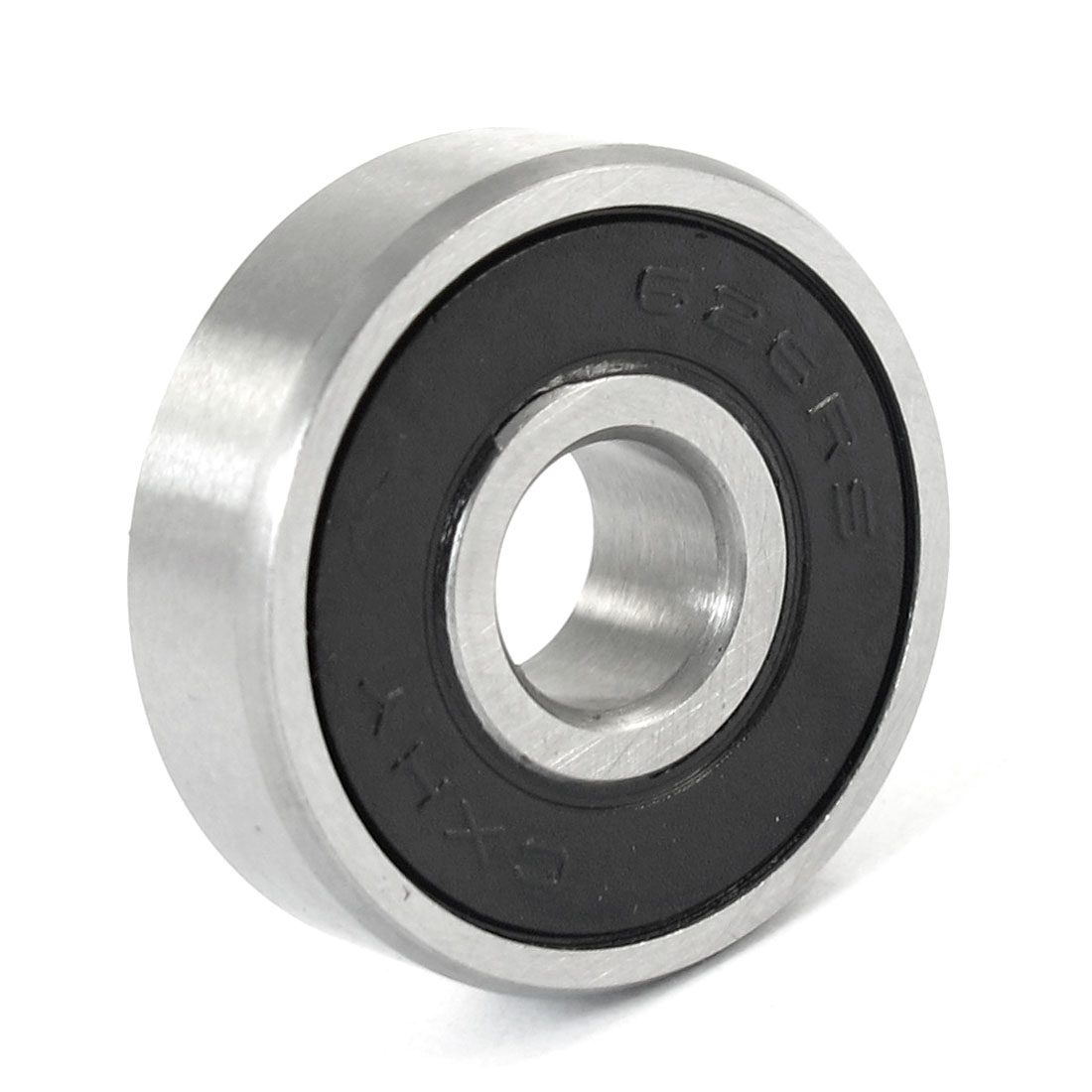 20mm x 6mm x 6mm Carbon Steel 626RS Shielded Deep Groove Ball Bearing Black