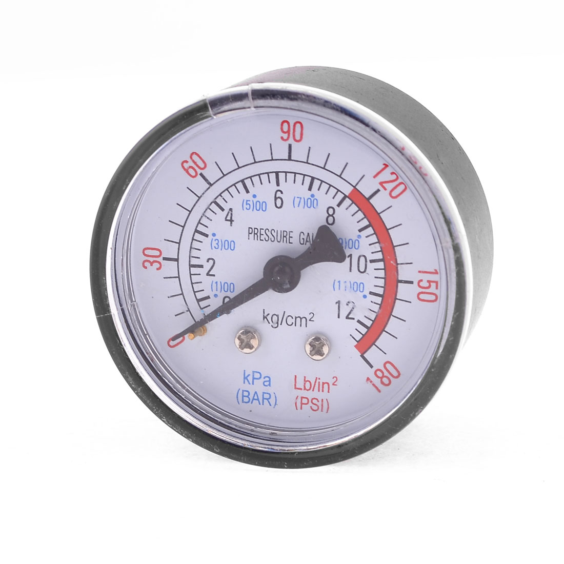 "0-180 PSI Black Plastic 0.5"" Compressor Compressed Pressure Gauge"