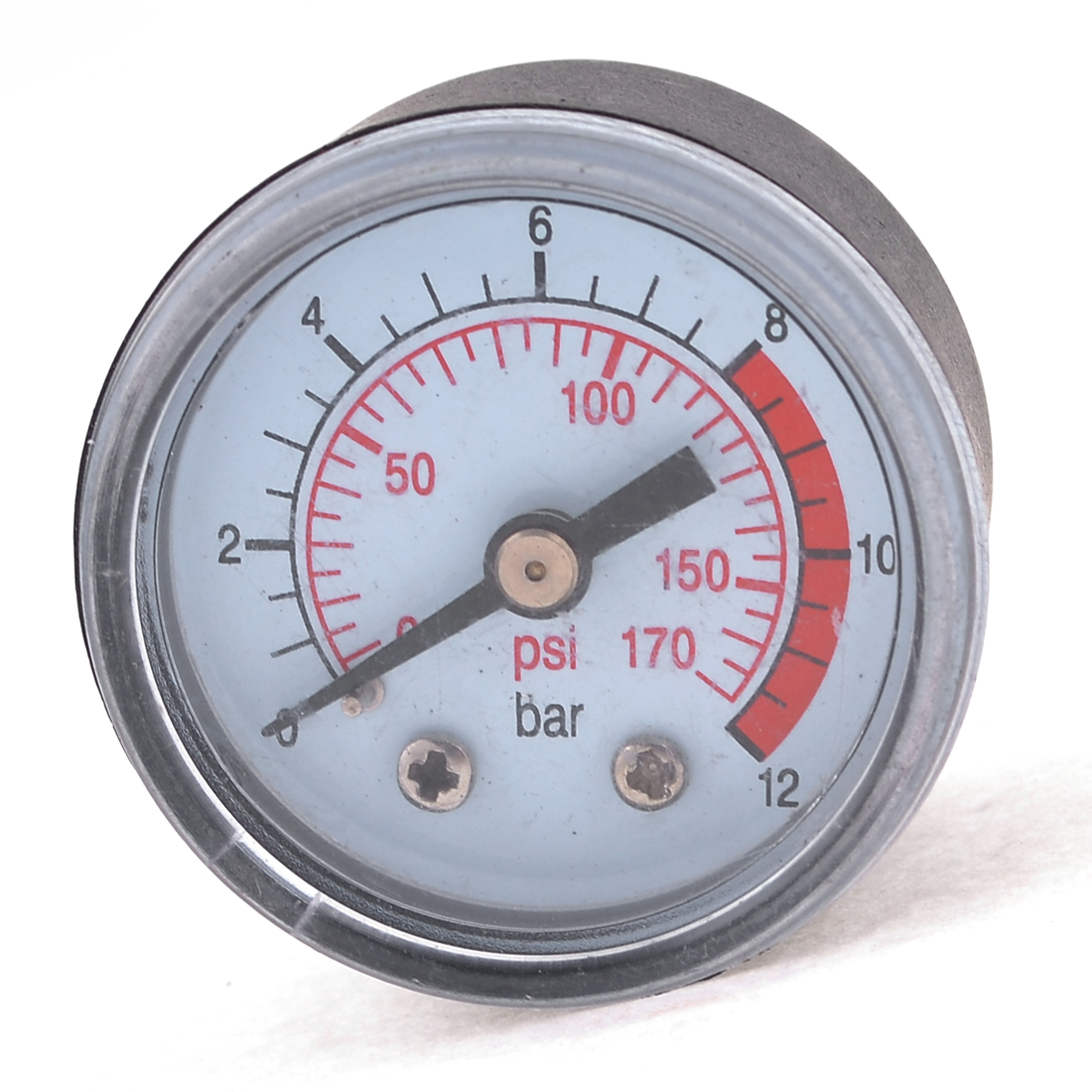 "0-170 PSI Black Plastic 0.37"" Compressor Compressed Pressure Gauge"