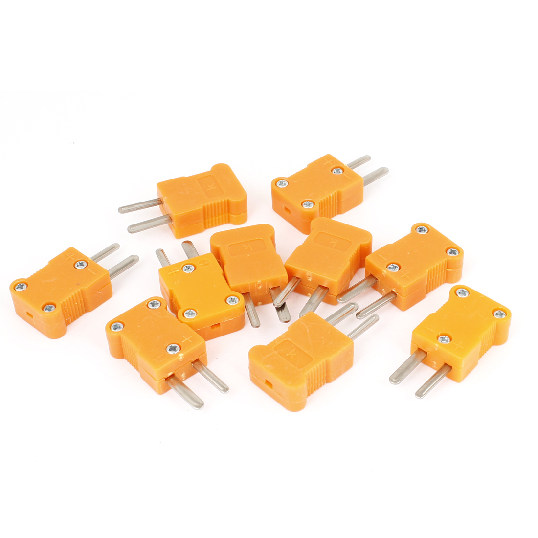 10 Pcs Spare Part K Style Male Thermocouple Sensor Plug Orange