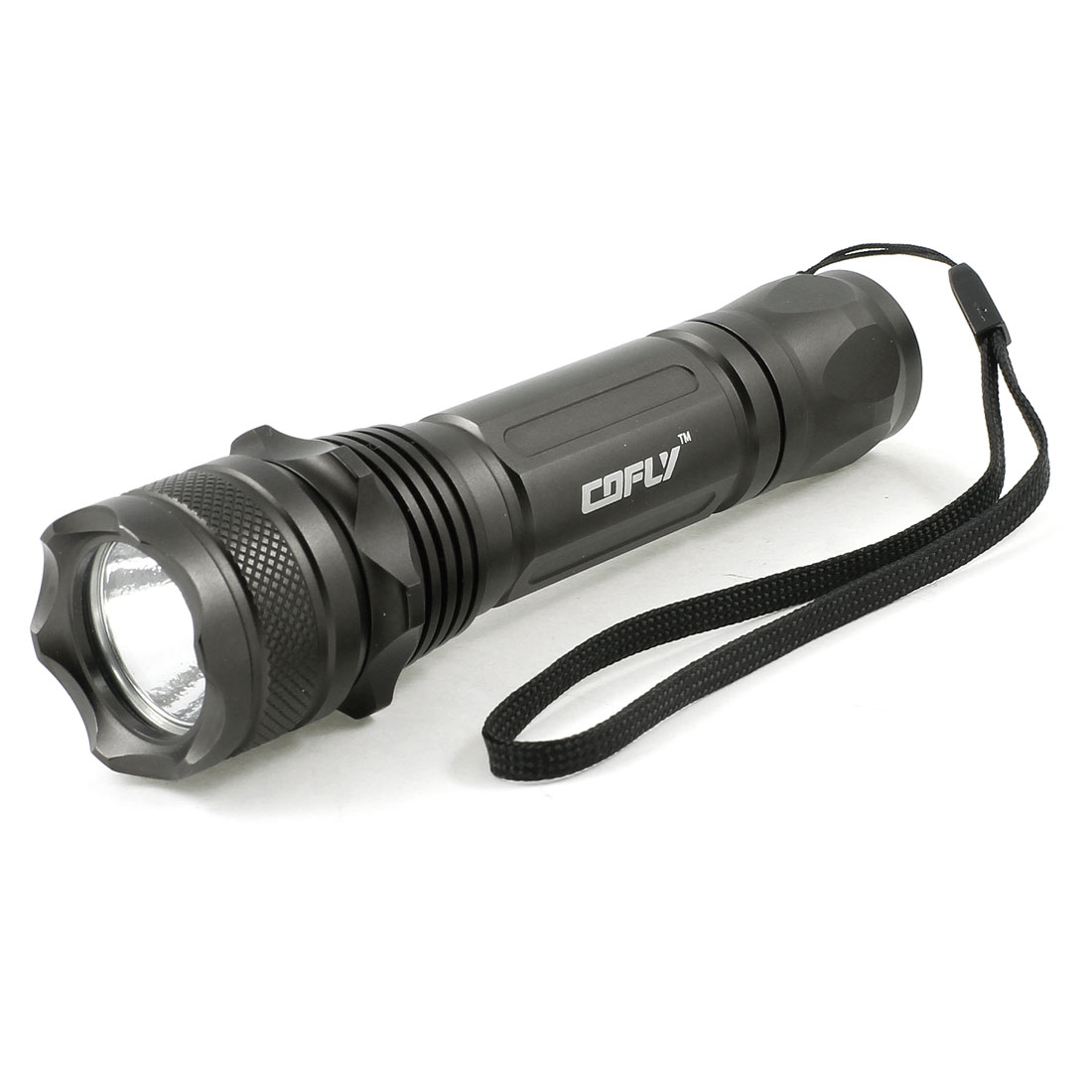 "Camping Black Housing 850LM 3 Modes White LED Light Flashlight 5.3"" Long"