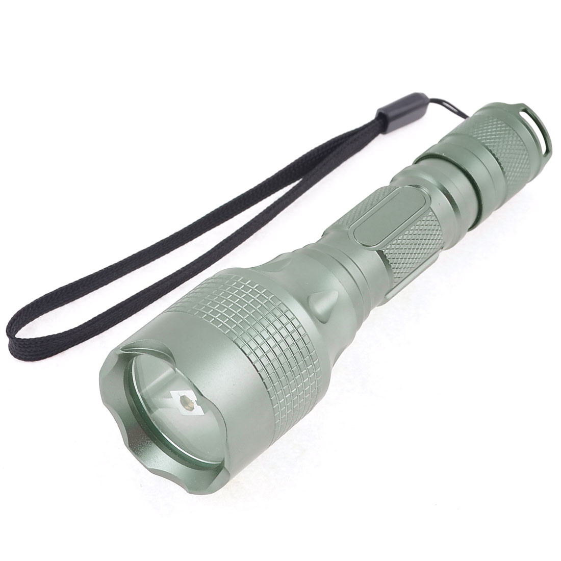 "Nonslip Handle 250LM LED White Light Camping Flashlight Gray 5.5"" Long"