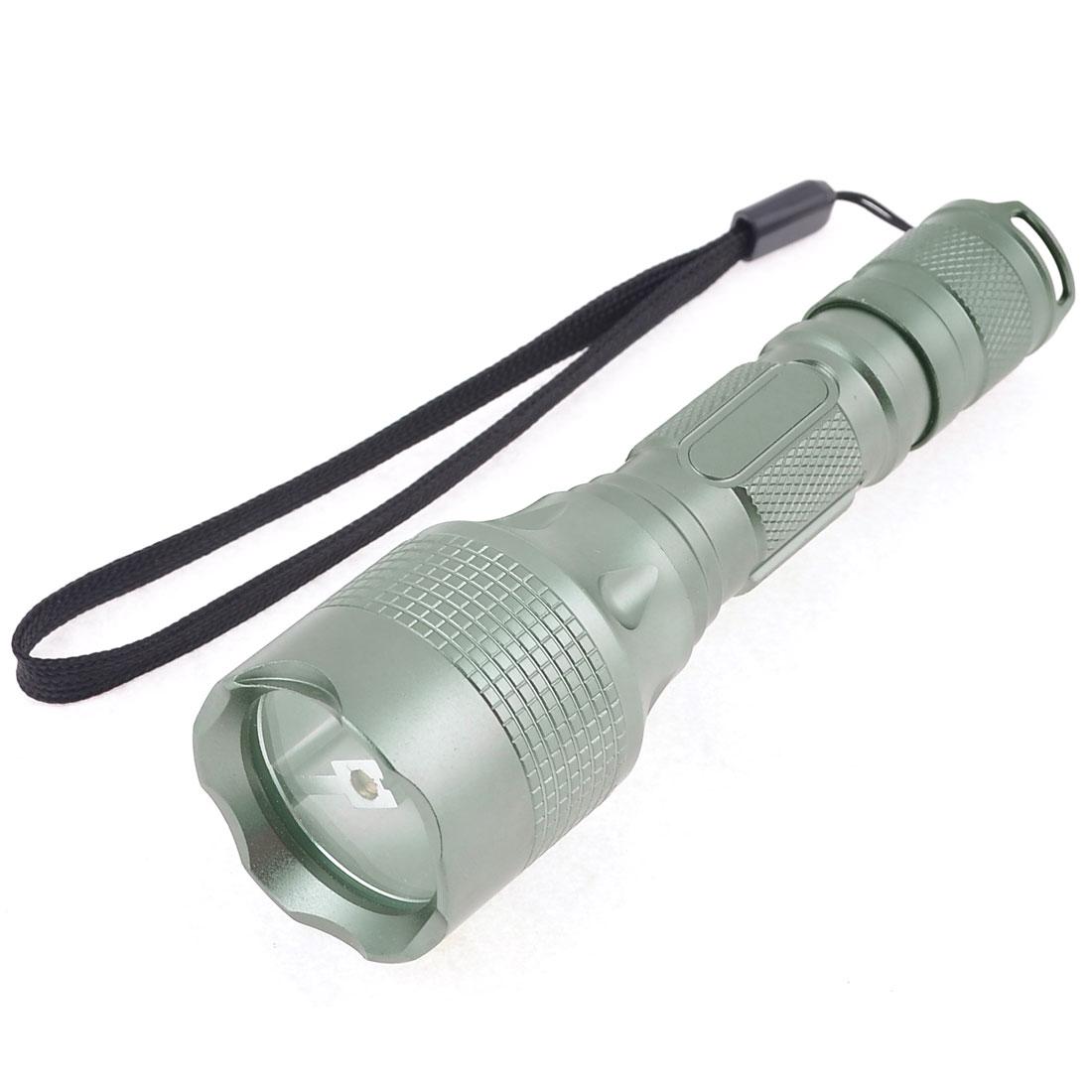 "Nonslip Handle 250LM LED White Light Camping Flashlight Gray 5.5"" Long"