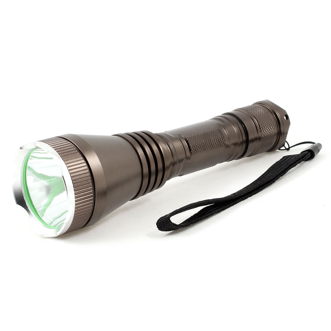 "Coffee Color Handhold 3 Modes 850 Lumens White LED Flashlight 6.3"" Long"