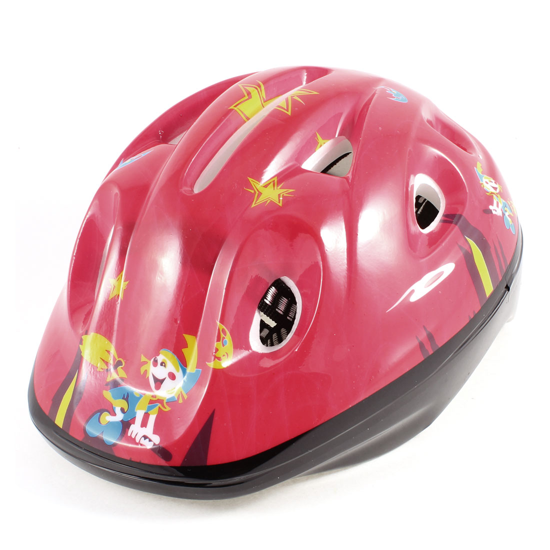 Child Bicycle Bike Cycling Stars Printed Helmet Yellow Red