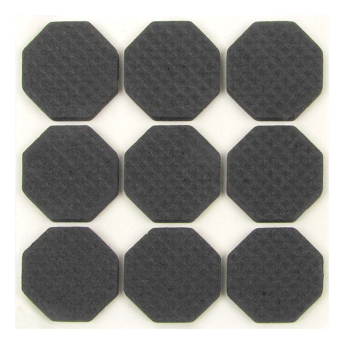 9 Pcs Home Office Black Hexagon 25mm x 25mm Desk Table Chair Leg Foot Guard