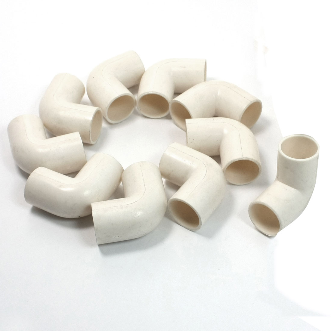 10 Pcs 16mm Inner DiaMmeter 90 Degree Elbow PVC Pipe Connectors White