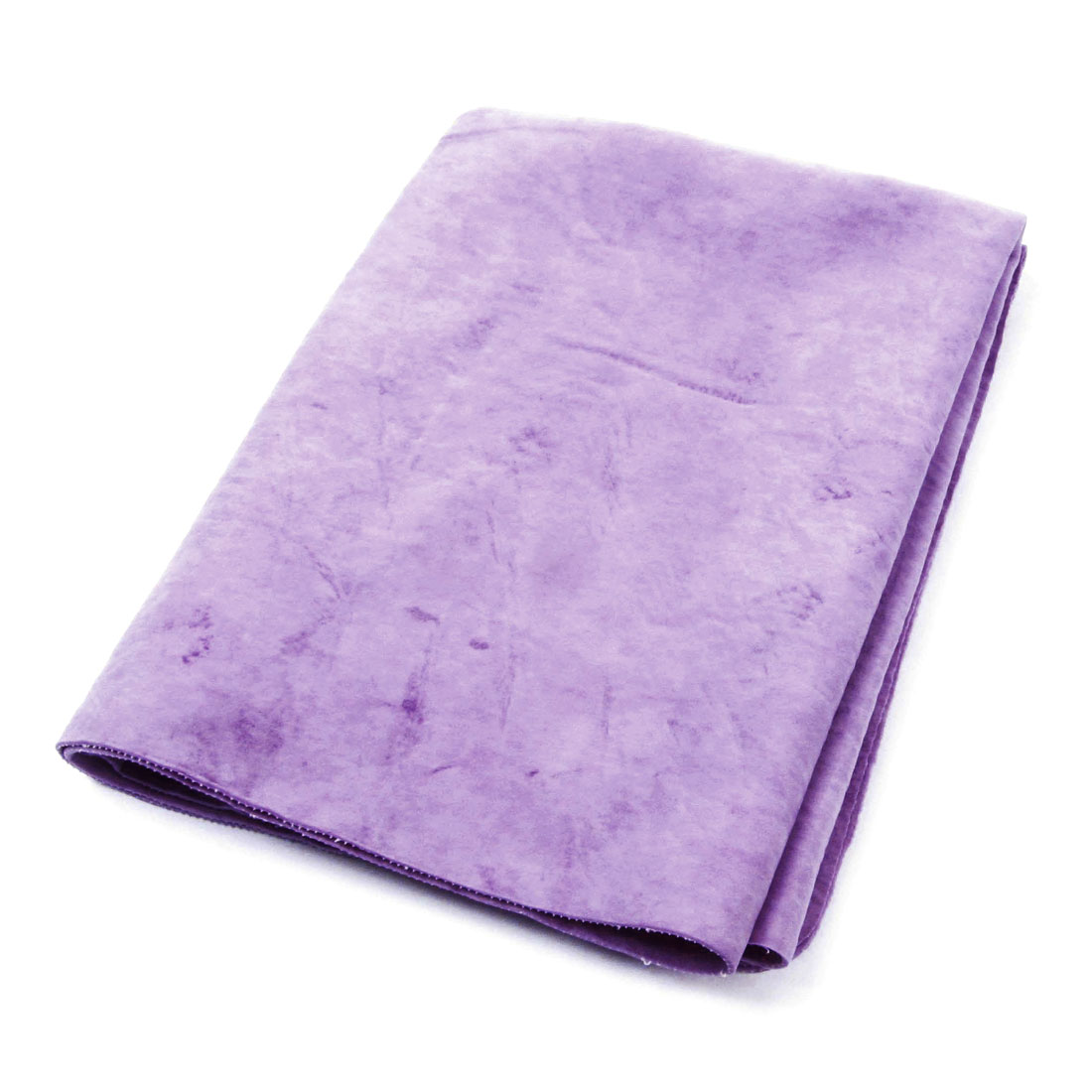Plastic Case Faux Chamois Water Absorb Hair Drying Towel Purple 64 x 43 x 0.2cm