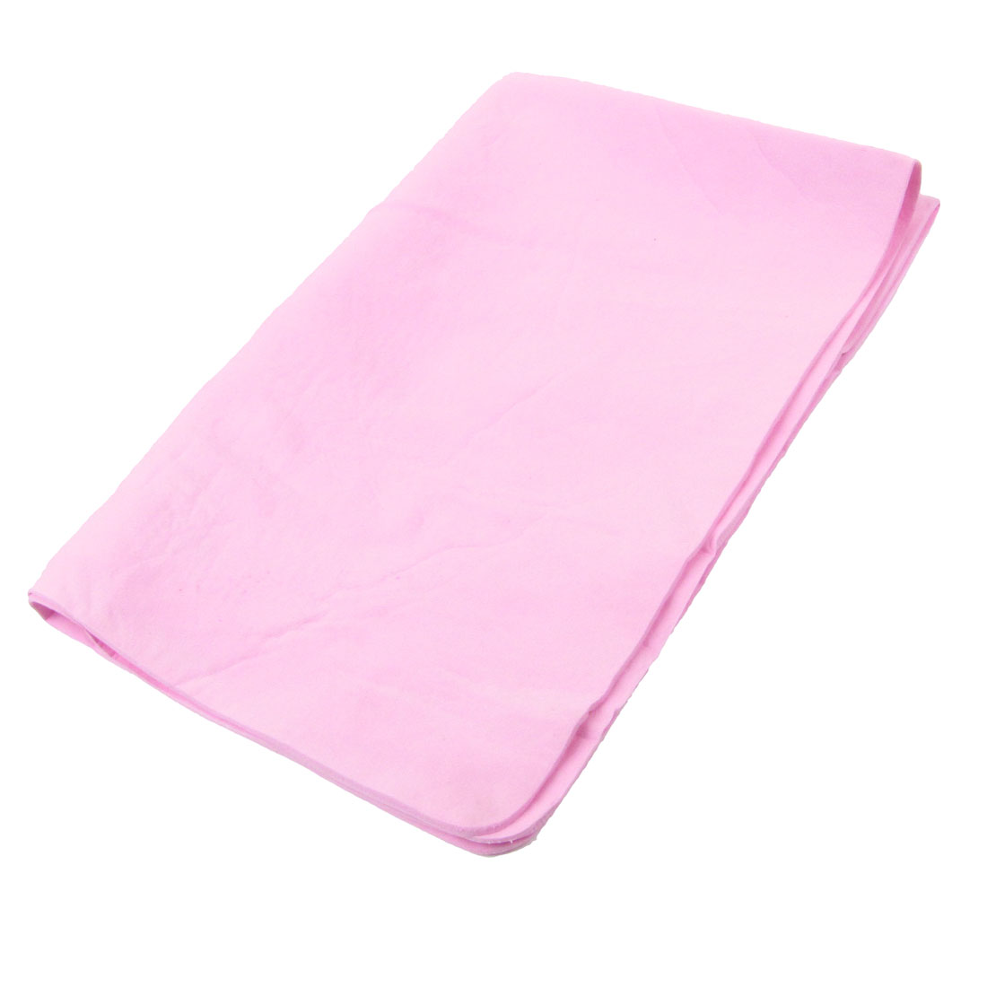 Home Furniture 64 x 43 x 0.2cm Synthetic Chamois Cleaning Cham Towel Pink w Case