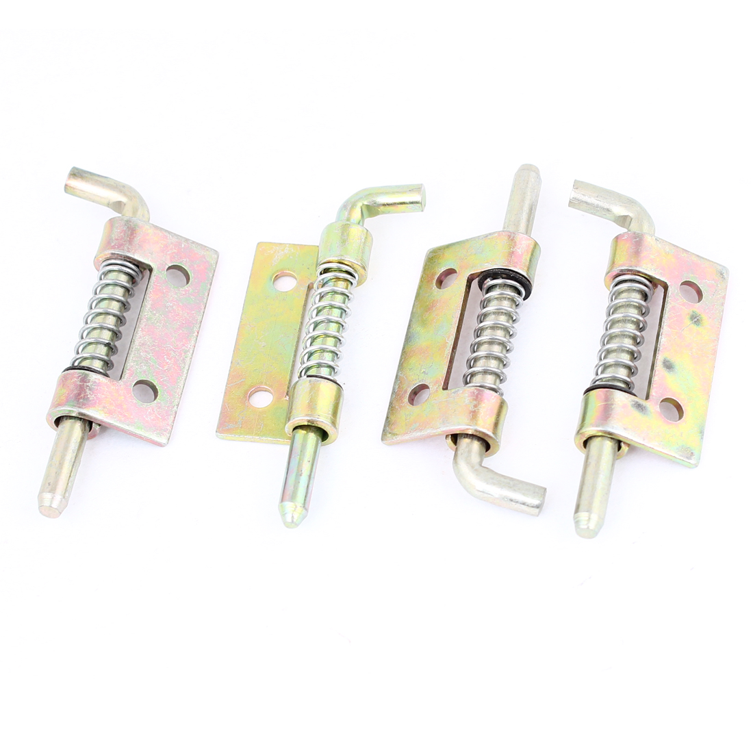 4 Pcs Locked Spring Loaded Metal Security Barrel Bolt Latch 5.5cm
