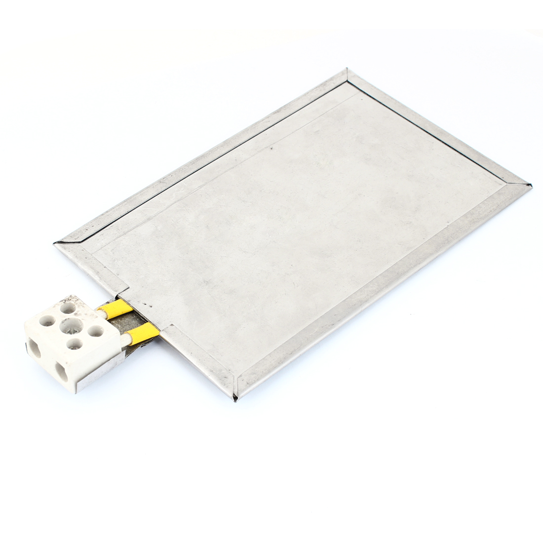 Ceramic Plug 2 Wired Stainless Steel Heating Board 200mm x 125mm