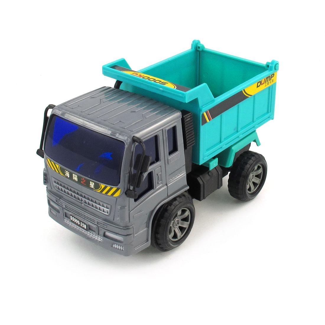 Child Plastic Dump Truck Vehicle Car Model Toy Dark Gray Green