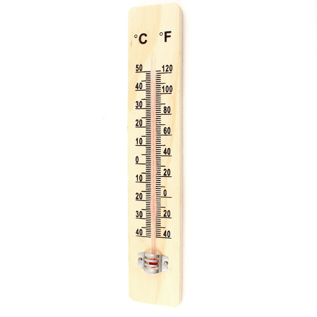 -40 to 50 Centigrade Plastic Temperature Gauge Thermometer Beige