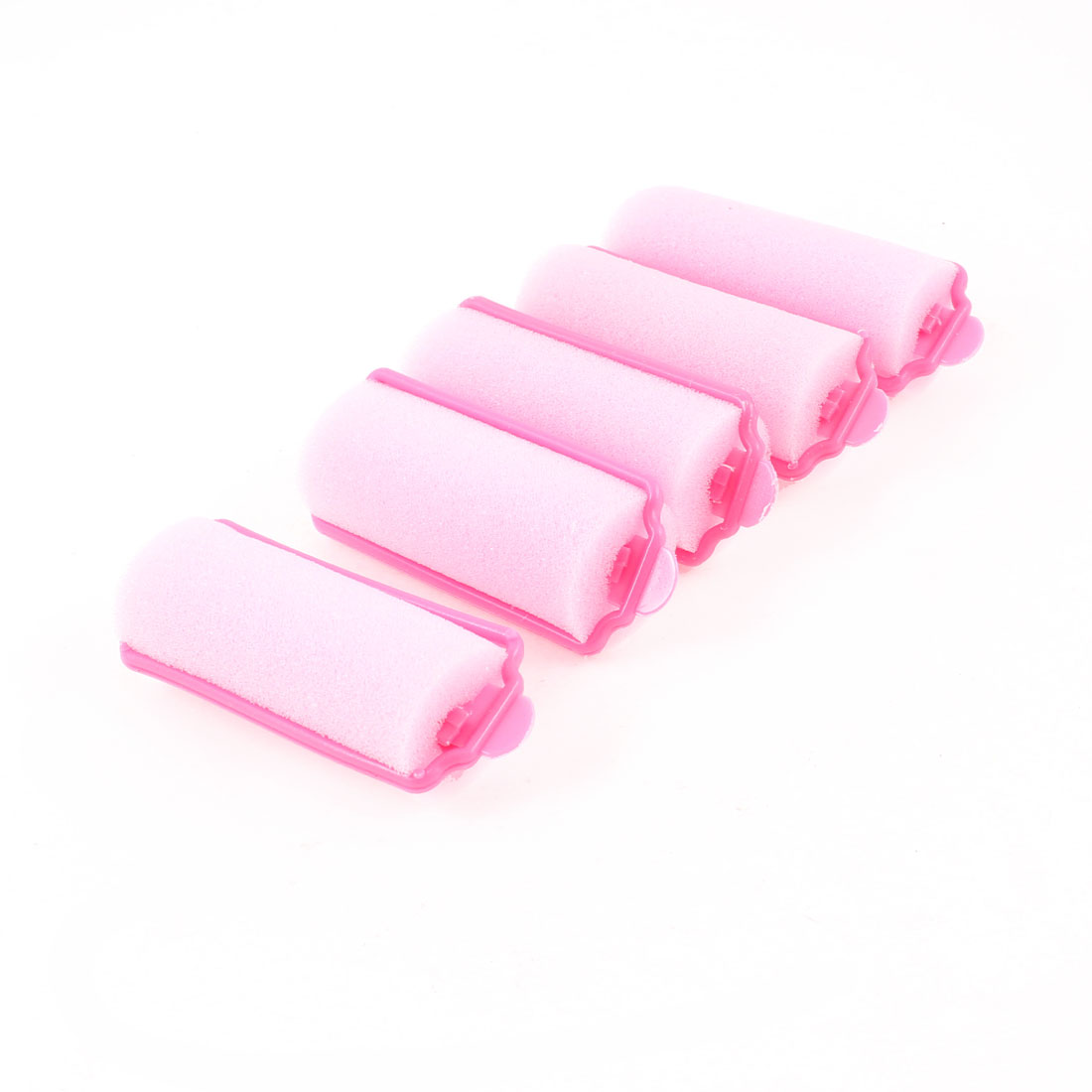 5 Pcs Pink Sponge Curly Hairstyle DIY Hair Roller Curler