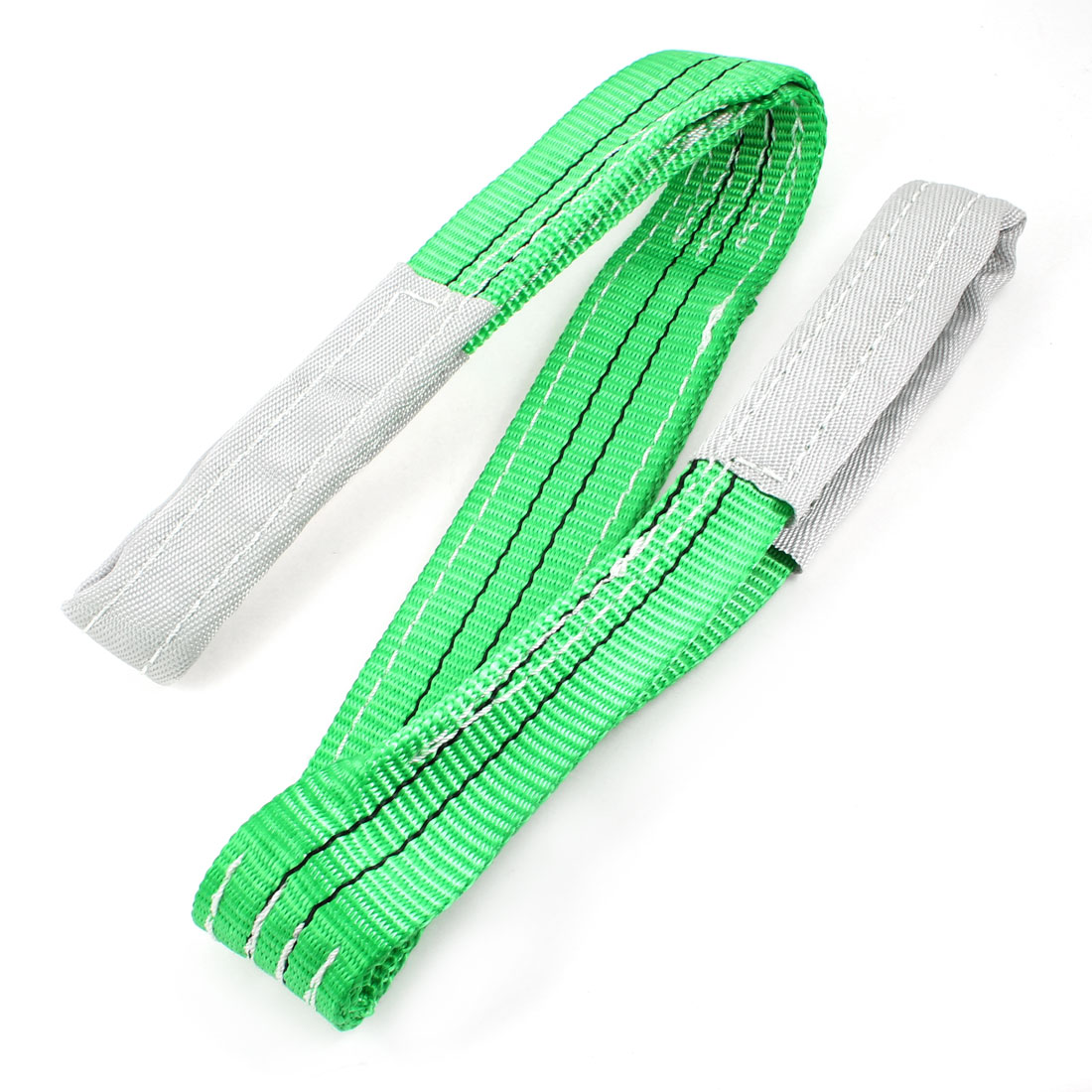 Green 2T Straight Capacity Eye to Eye Web Lifting Tow Strap 3.3Ft