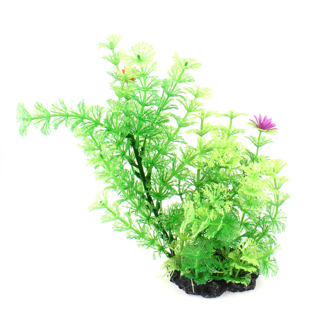 "Fish Tank Aquarium Green Snowflake Leaves Emulational Plastic Plant 10.2"" High"