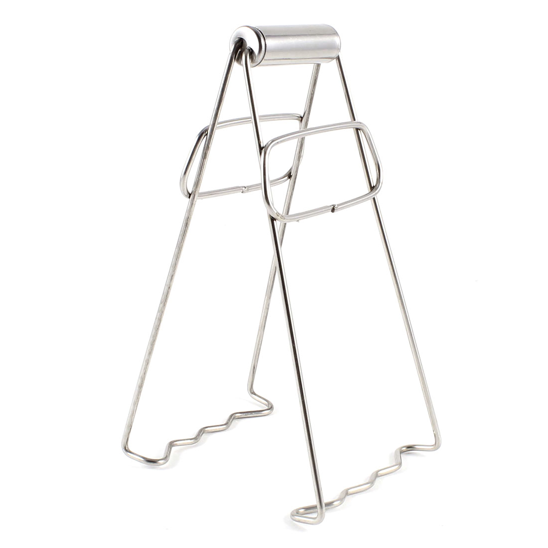 Stainless Steel Trapezoidal Wavy Double Feet Hot Pot Dish Plate Clip Clamp 7""