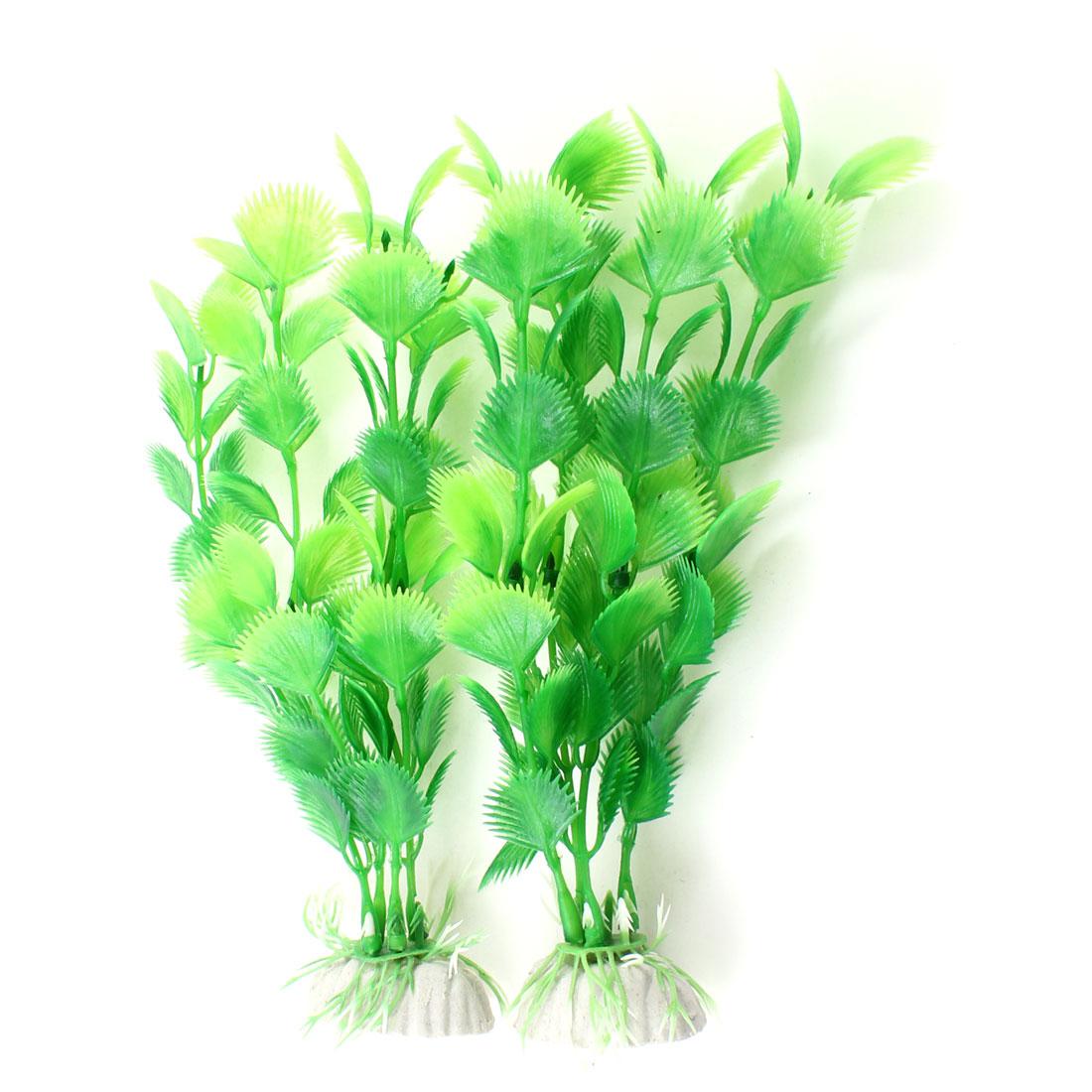 "Aquarium Tanks Landscaping 7.1"" Long Simulated Aquatic Plant Green 2pcs"
