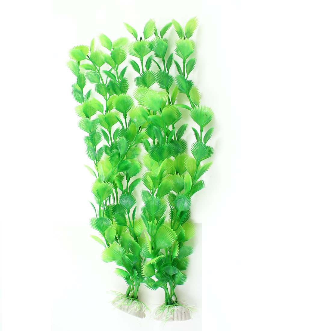 "Aquarium Artificial Aquatic Plant Grass Ornament Green 12.6"" Long 2 Pcs"