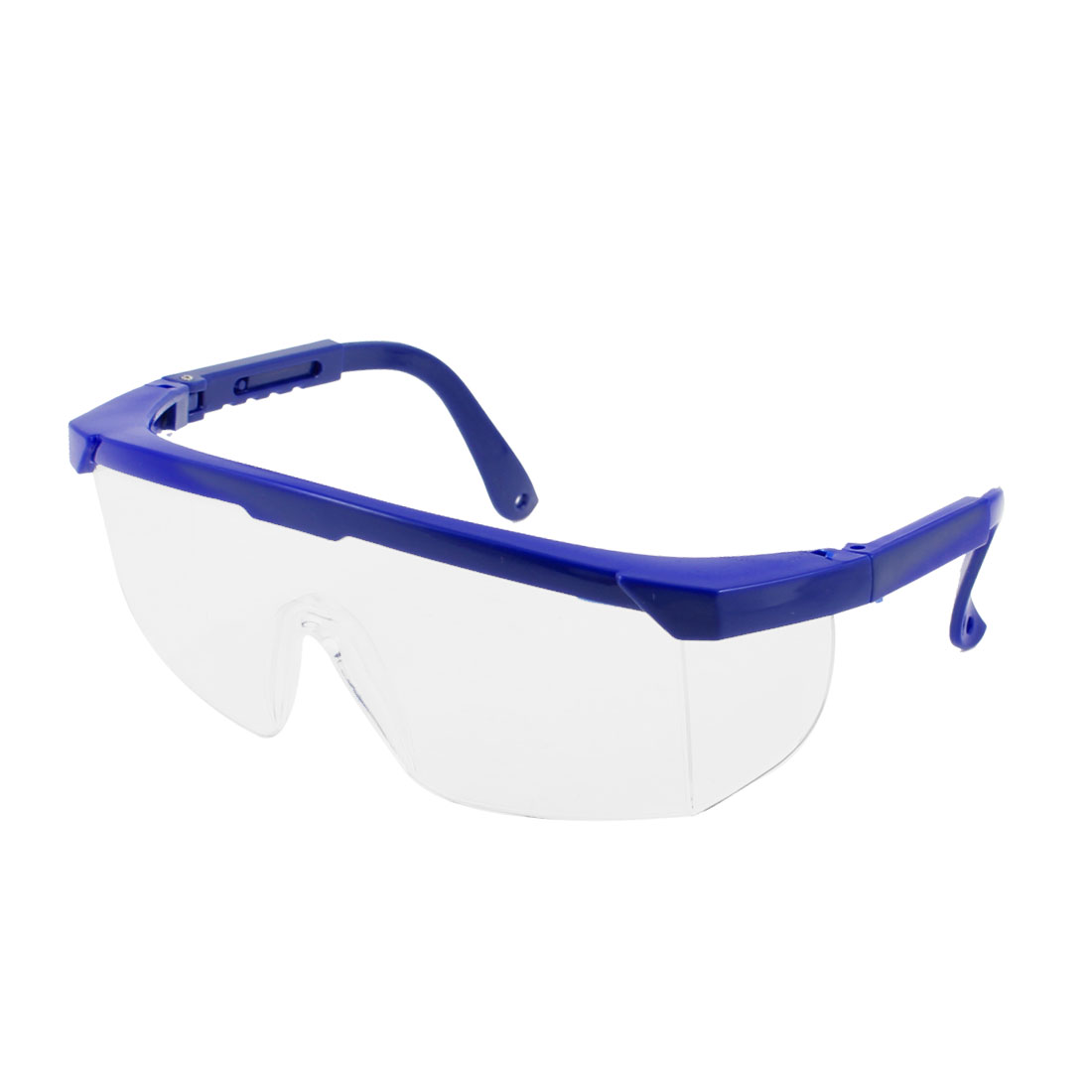 Navy Blue Adjustable Arms Plastic Clear Lens Protective Glasses Goggles
