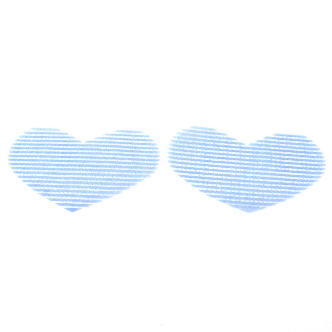 Light Blue Heart Designed Make Up Foretop Hair Bangs Magic Sheet 2 Pcs