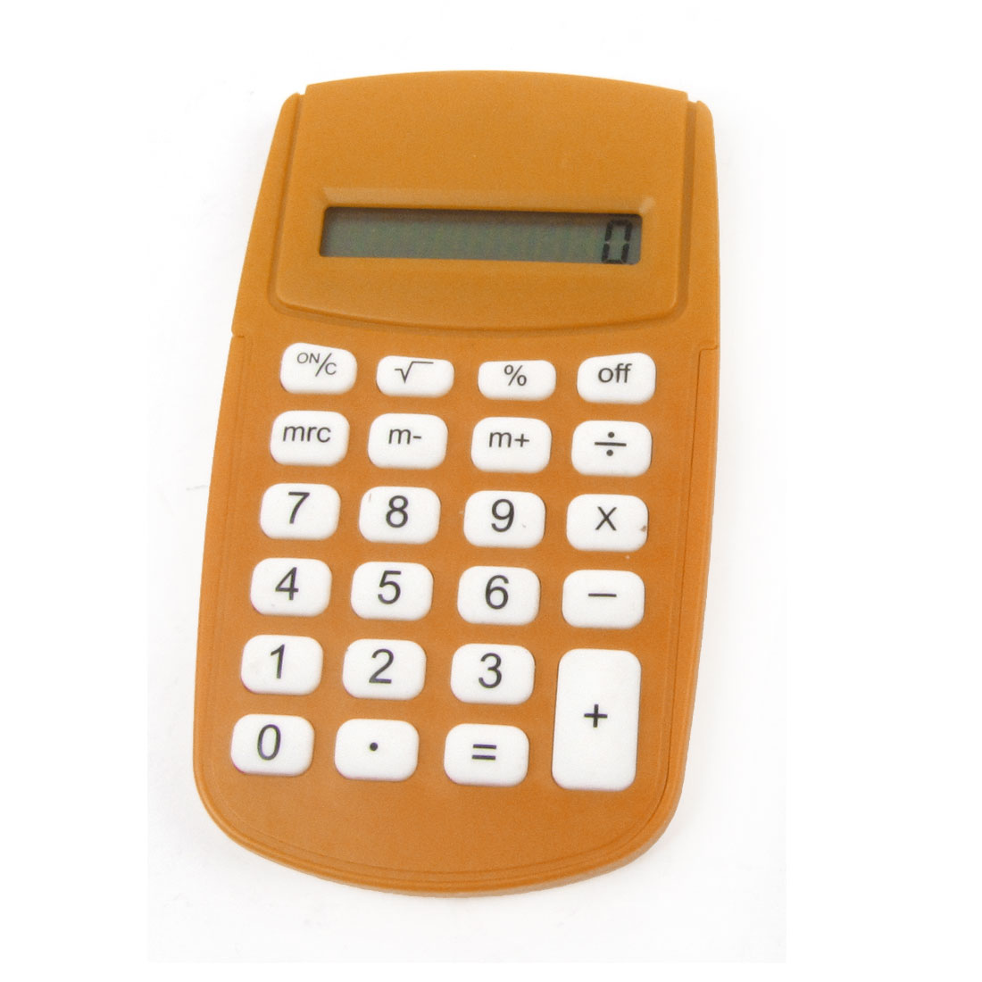 Office Plastic LCD Display 8 Digit Electric Calculator Orange White Black