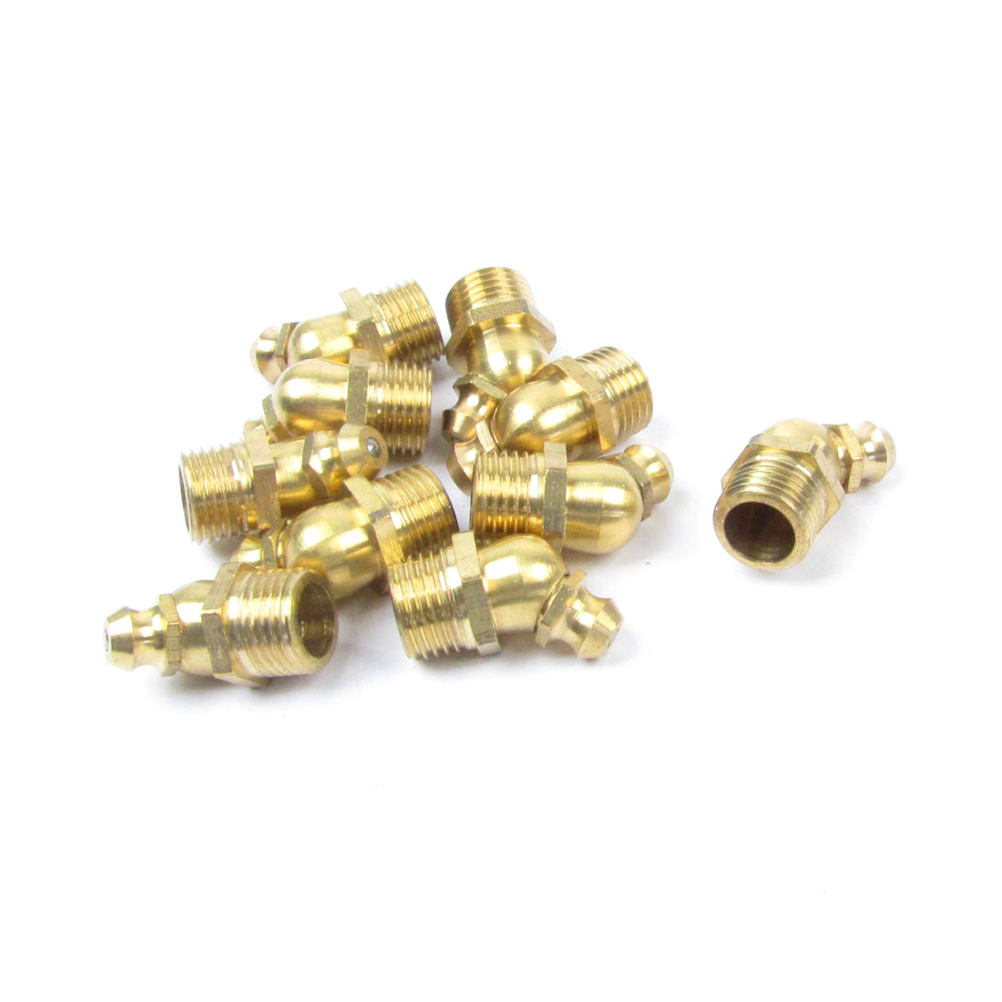 10 Pcs Male Thread 45 Degree Angle M10 Thread Brass Zerk Fitting Grease Nipple