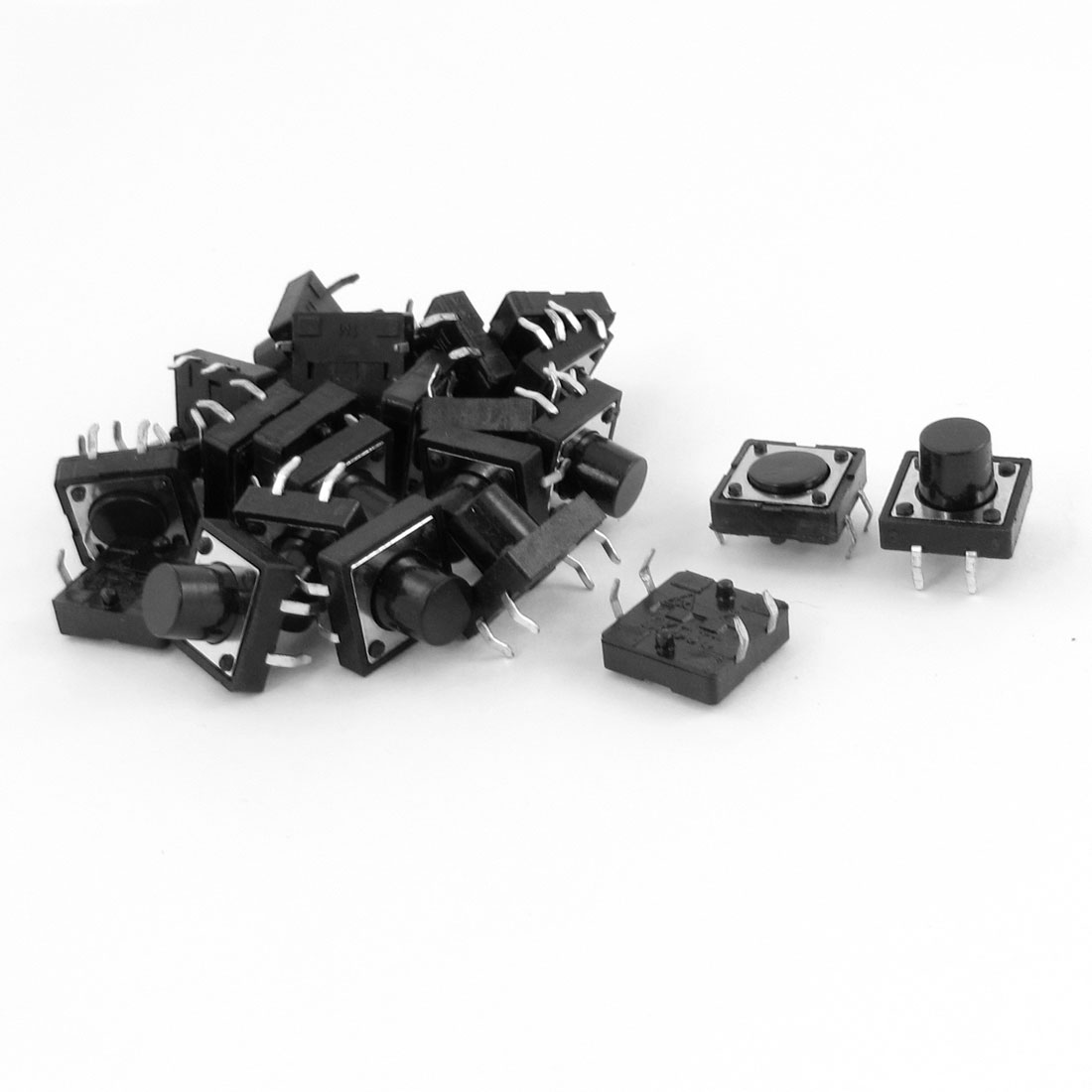 Momentary Contact Tactile Miniature Micro Switches 12mm x 12mm 25pcs
