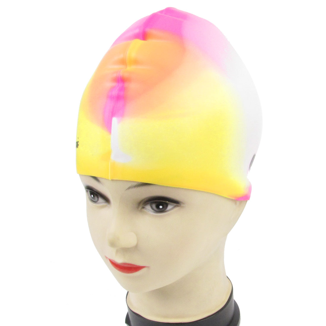 Adults Smooth Surface Stretchy Silicone Swimming Cap Colorful