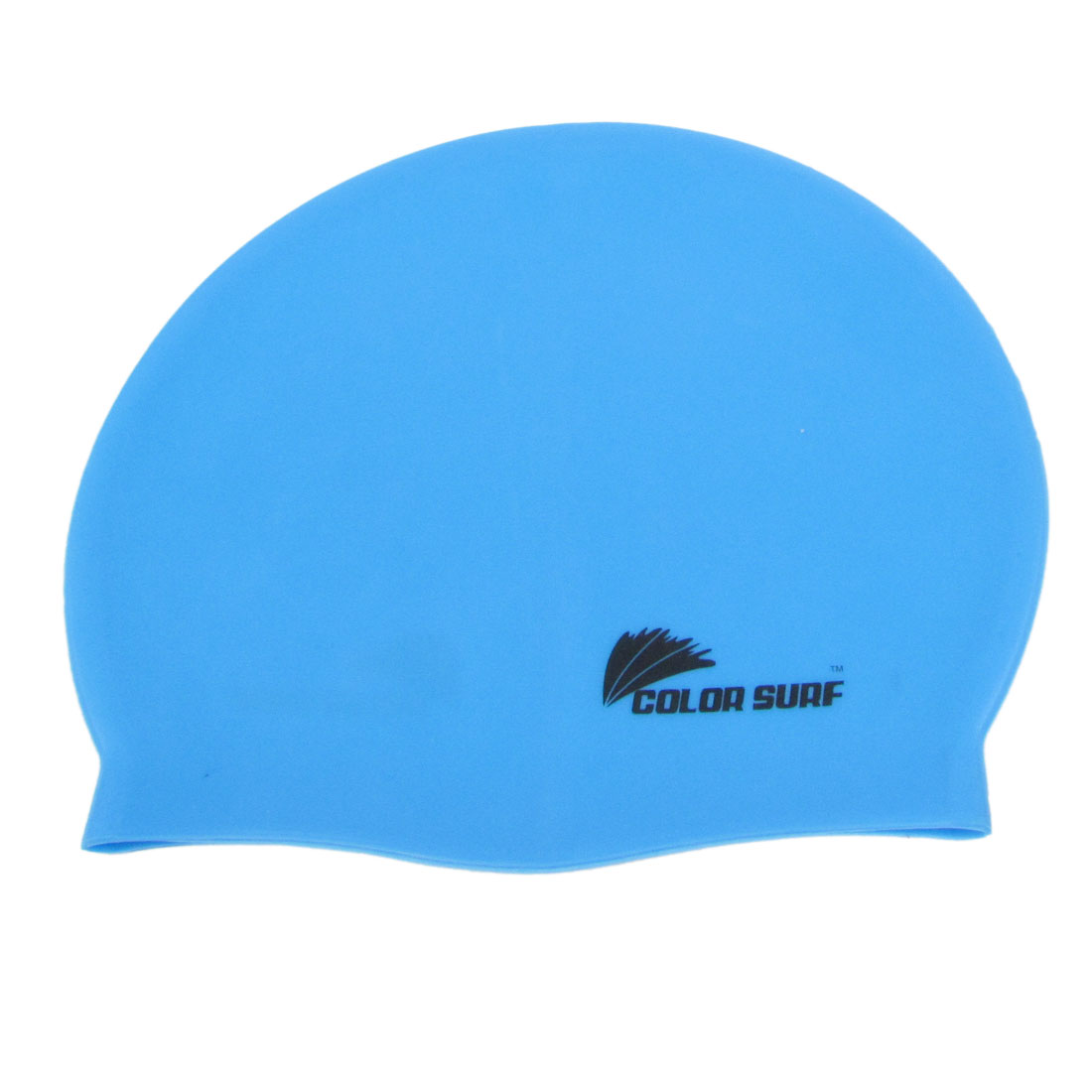 Adults Silicone Stretchy Swimming Surfing Dive Swim Cap Sky Blue