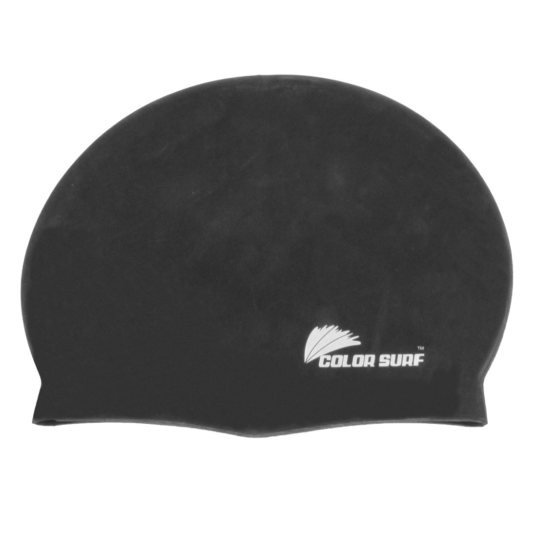 Adults Silicone Flexible Elastic Surfing Swimming Cap Hat Black 19 x 21.8cm