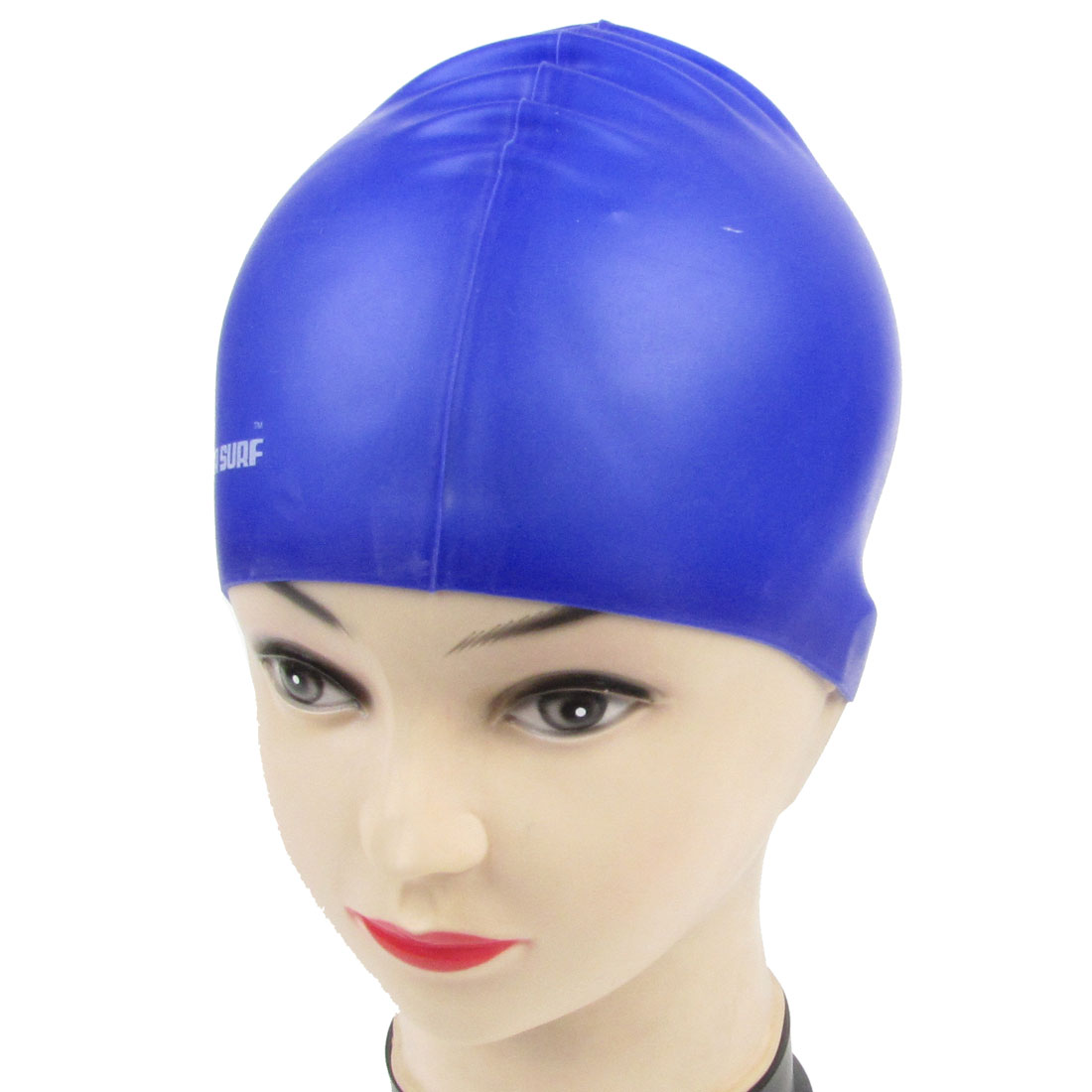 Royal Blue Silicone Dome Shape Stretchable Swimming Swim Cap Hat