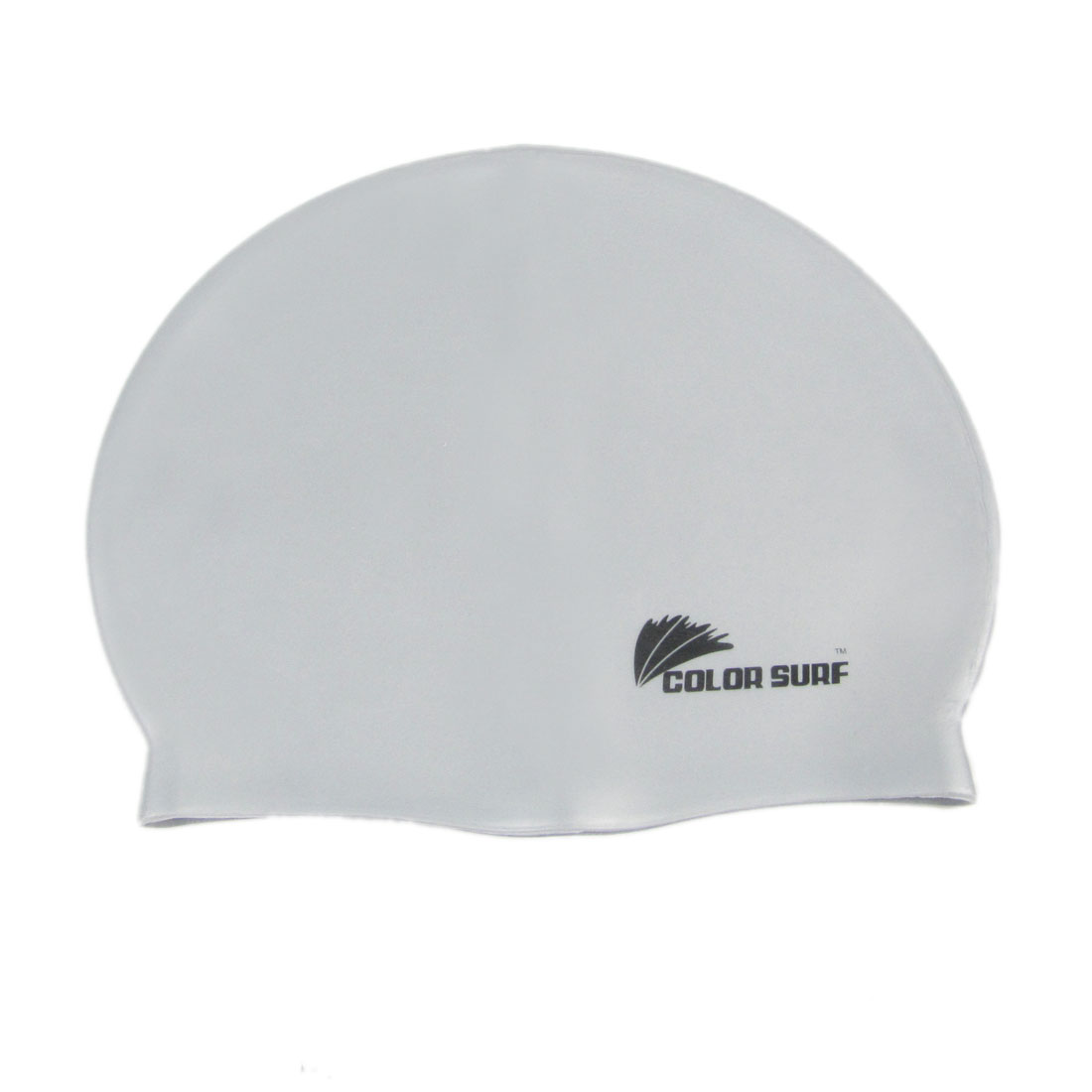 Dome Shaped Stretchy Swim Cap Light Gray for Swimming Diving Snorkeling