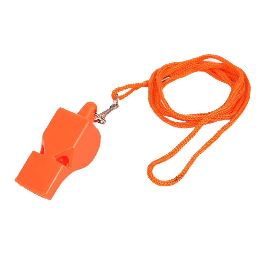 Outdoor Sports Game Lobster Hook Orange Neck Strap Plastic Referee Whistle