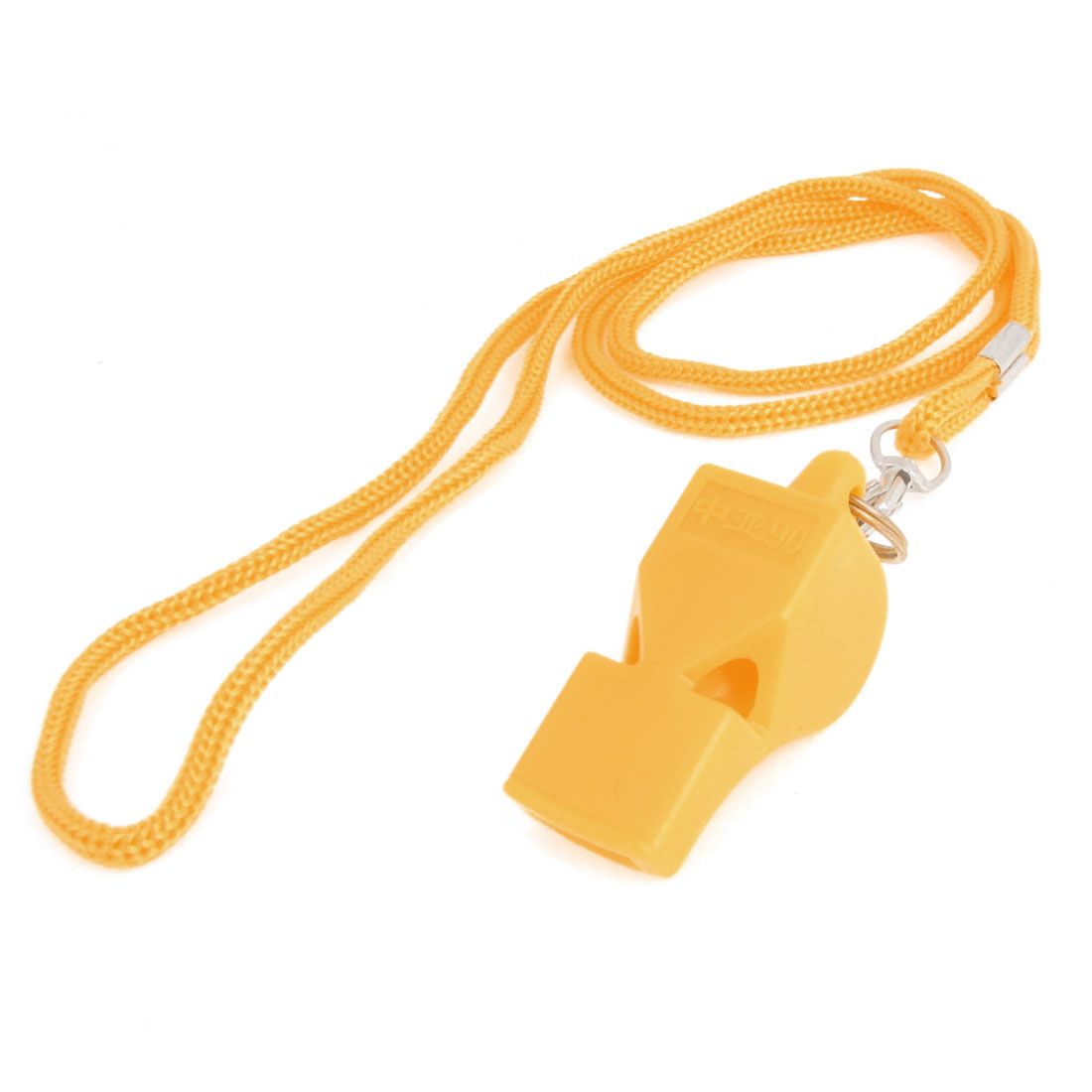 Sports Training Neck String Plastic Referee Whistle Yellow
