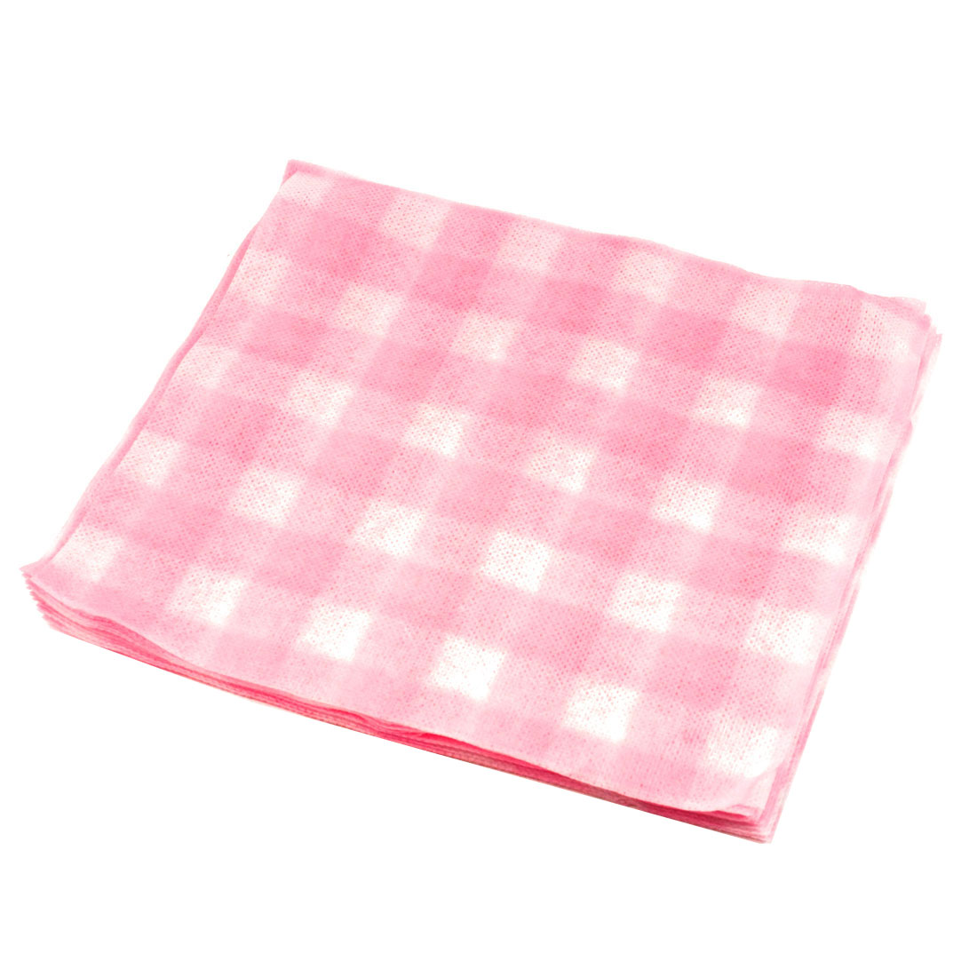 22.6cm x 20.2cm Pink White Face Cleaning Disposable Towels 20 Pcs