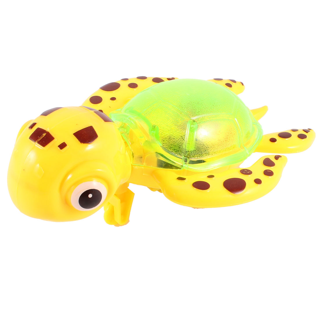 Light Green Yellow Body Tail Pull String Plastic Tortoise Toy for Kids