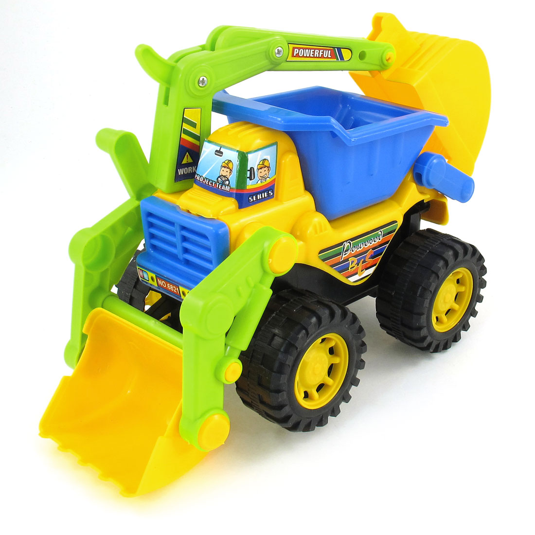 Multi Color Plastic Engineering Earthworks Digger Car Toy for Child