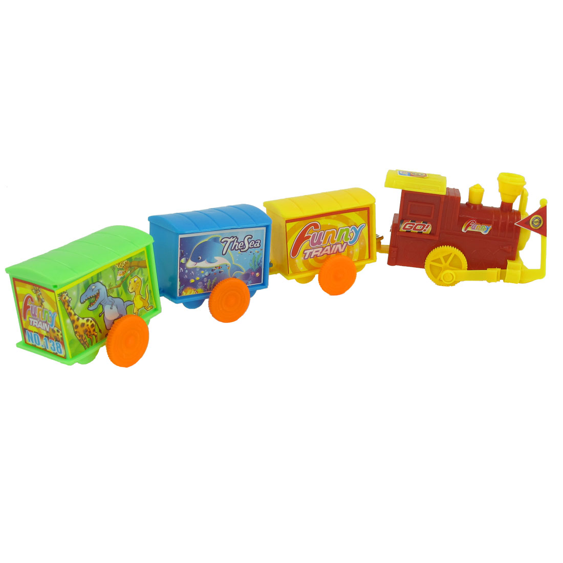 Multi Color Plastic Spiral Spring Train Toy for Child