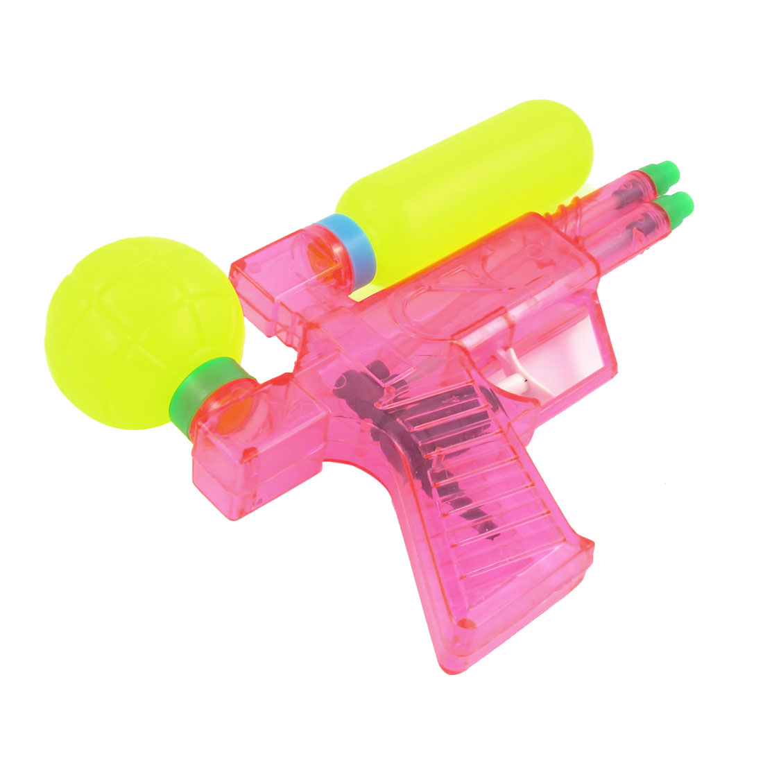 Yellow Pink Plastic Double Nozzle Squirt Toy for Children