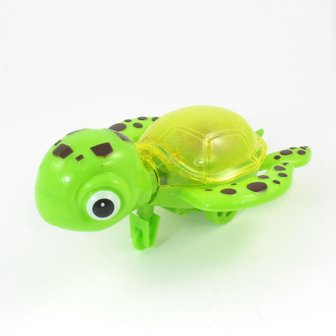 Green Black Yellow Body Tail Pull String Plastic Tortoise Toy Gift for Kids
