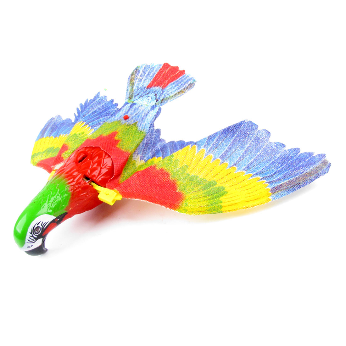 Battery Powered Black Beak Flying Eagle Toy Red Green Yellow Blue