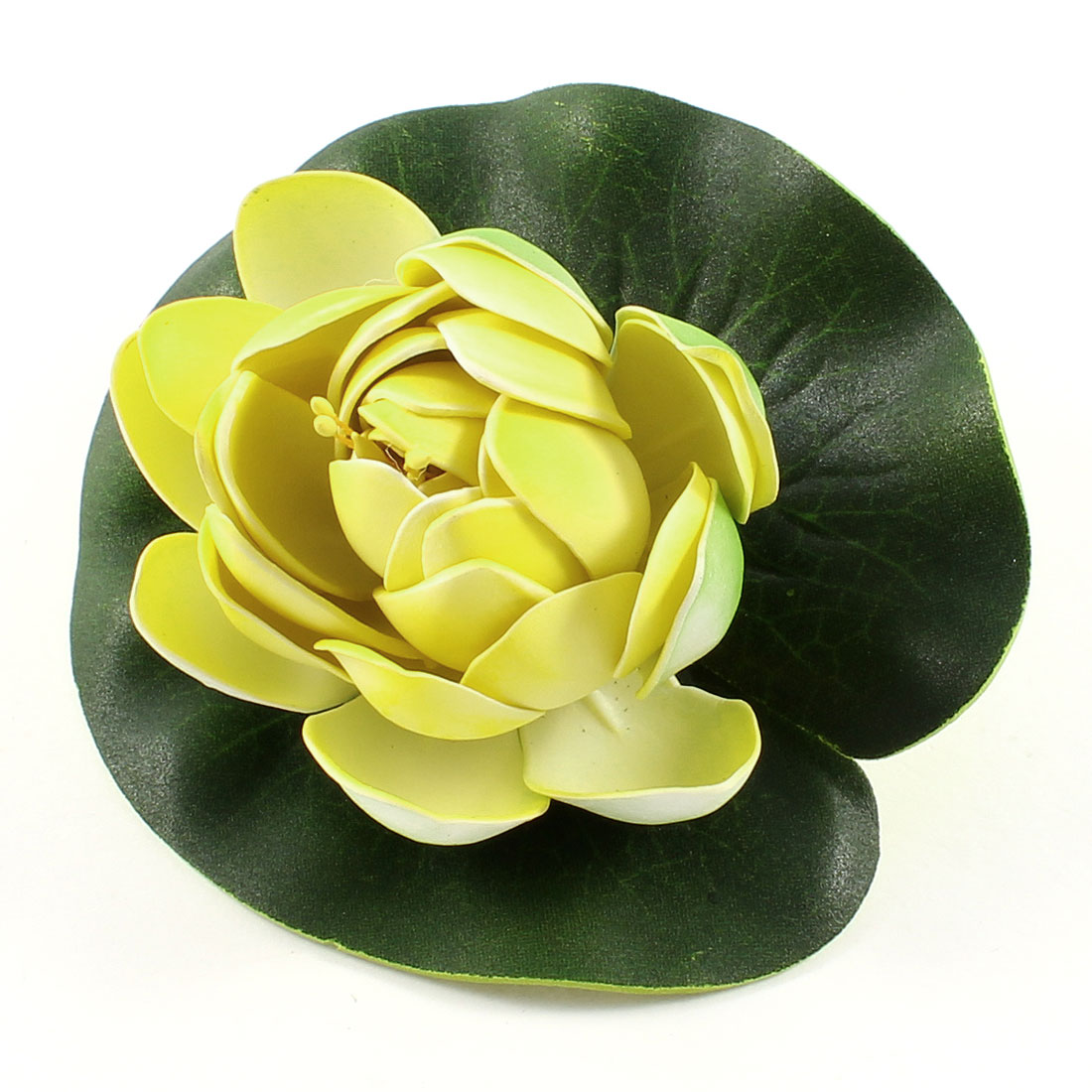 Aquarium Landscaping Decor Foam Water Plant Lotus Flower Green Yellow