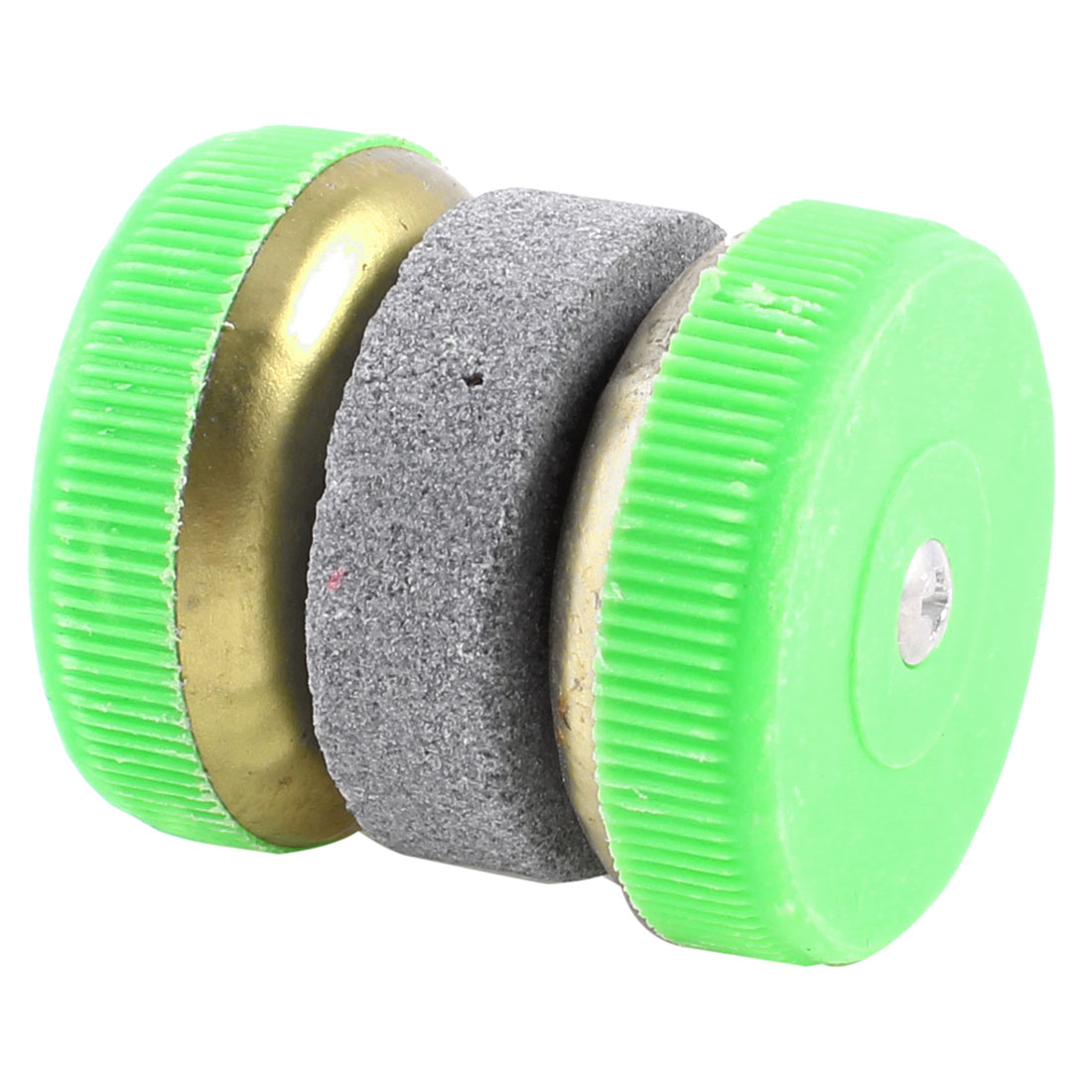 Home Plastic Wheel Grinding Cutter Sharping Whetstone Sharpener Lime Green