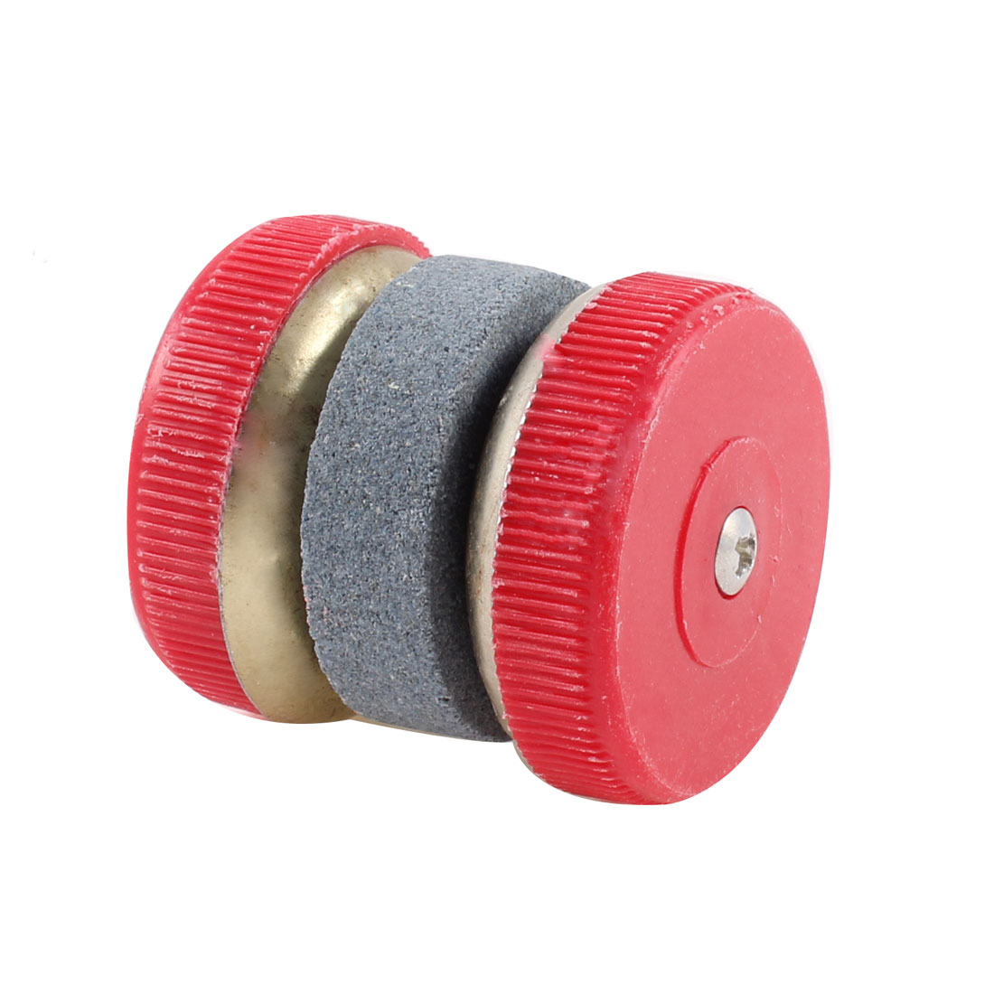 Family Kitchen Round Grinding Cutter Sharpening Whetstone Red Gray