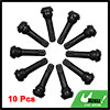 Car Vehicle Black Plastic Cap Rubber Tire Tyre Valve Stem Set 10PCS