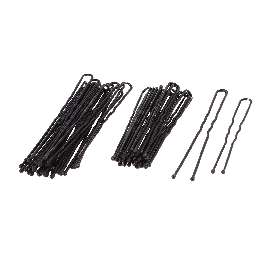 Ladies DIY Hairstyle Black Metal Hair Barrette Bar Clips 40 Pcs