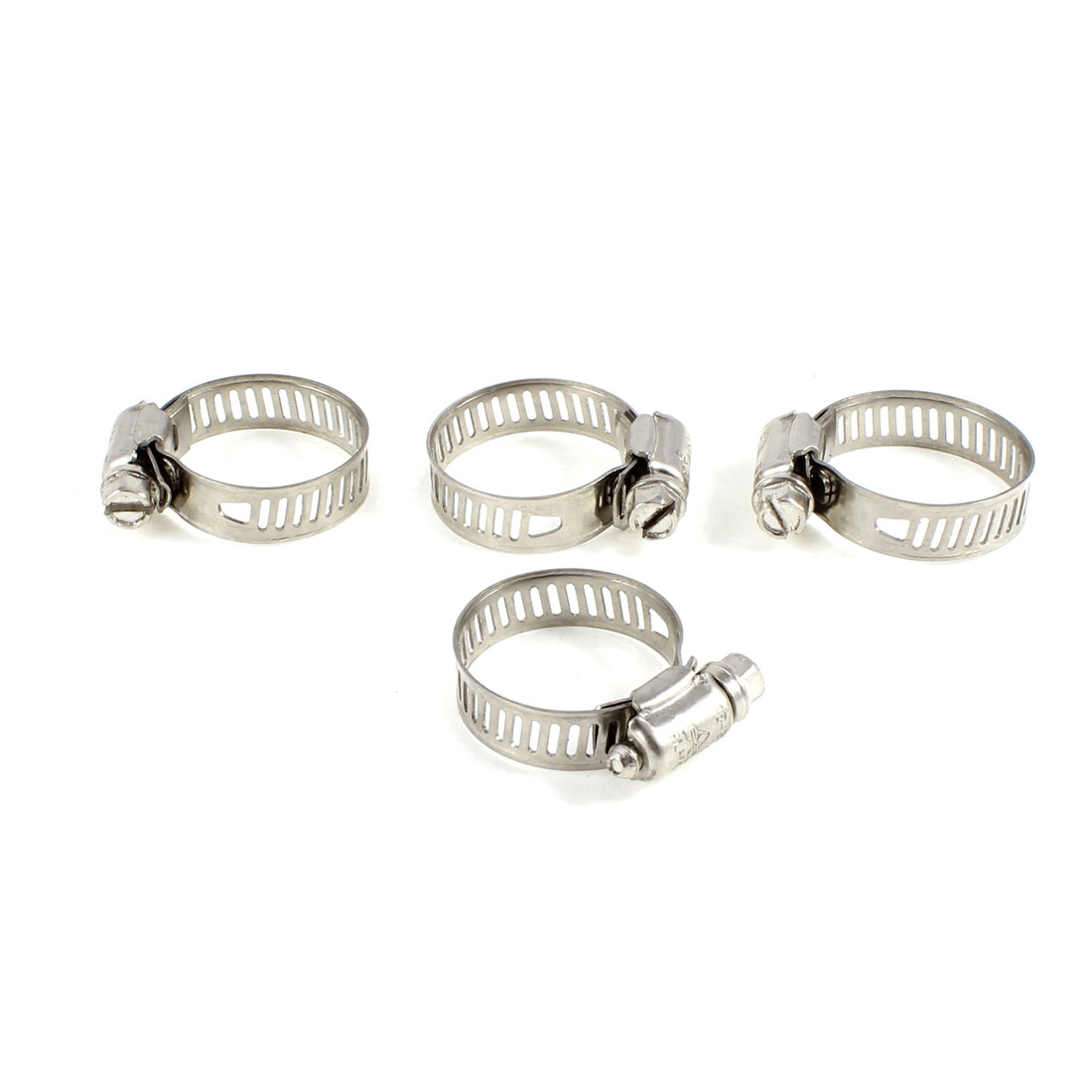 4 Pcs Adjustable Stainless Steel Worm Drive Hose Clips 18mm to 29mm