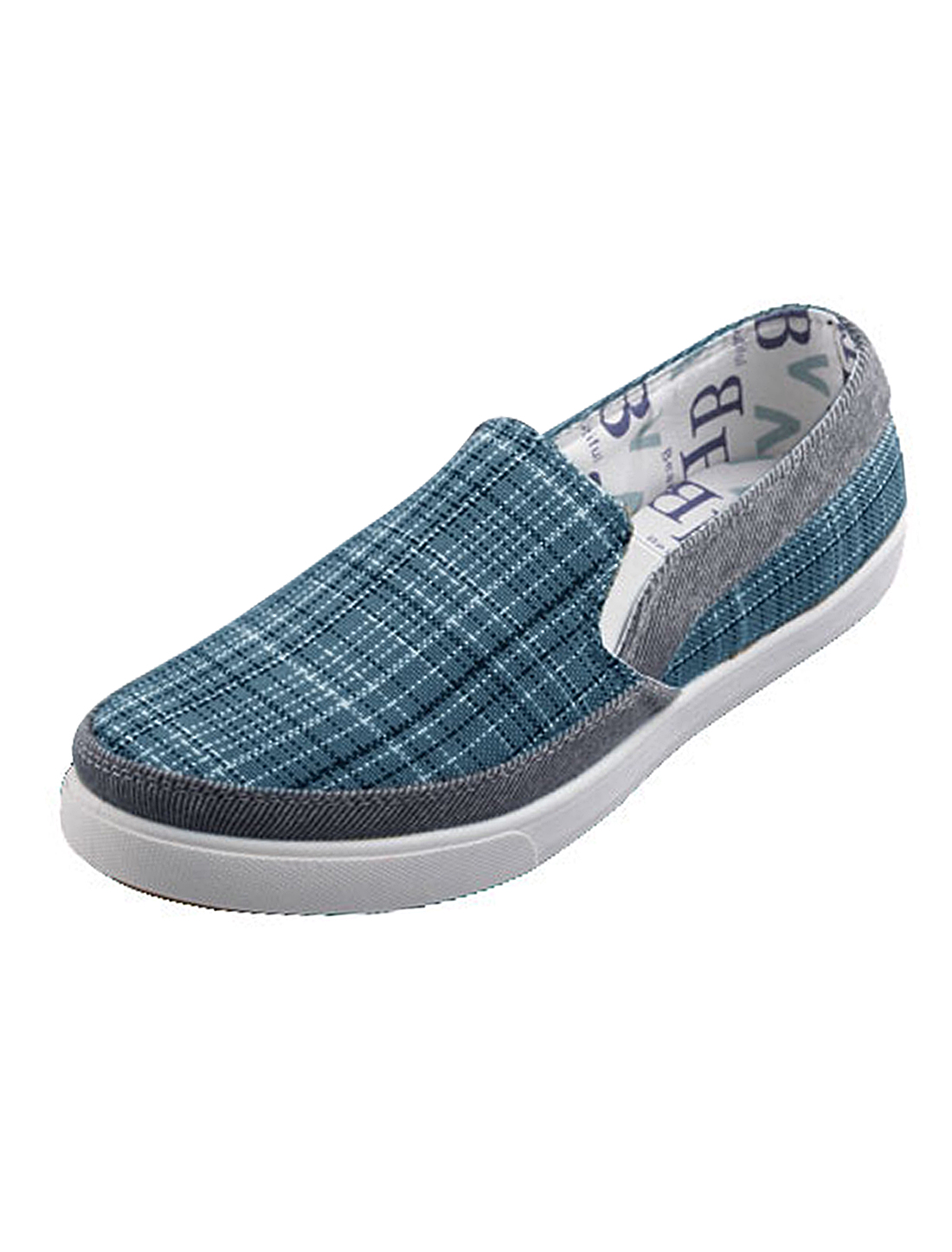 Blue US Size 11 Fashionable Fabric Lining Men Slip On Canvas Shoes