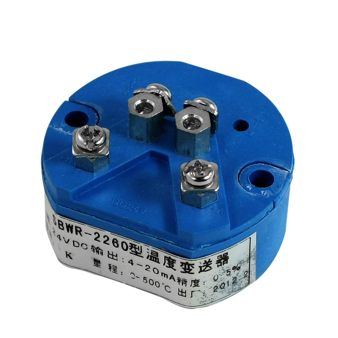 K Type Thermocouple Temperature Sensor Transmitter 0-500C 24VDC